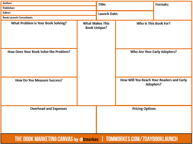 The Book Marketing Canvas - blank