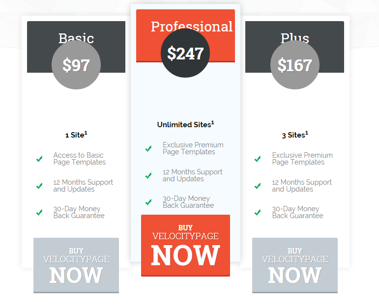 velocitypage pricing