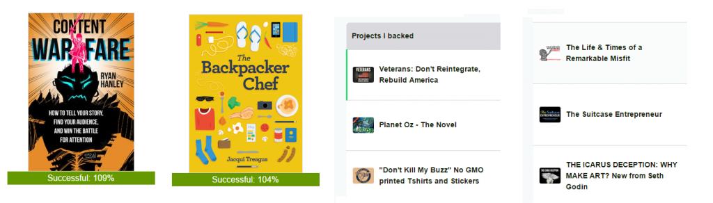backed kickstarters