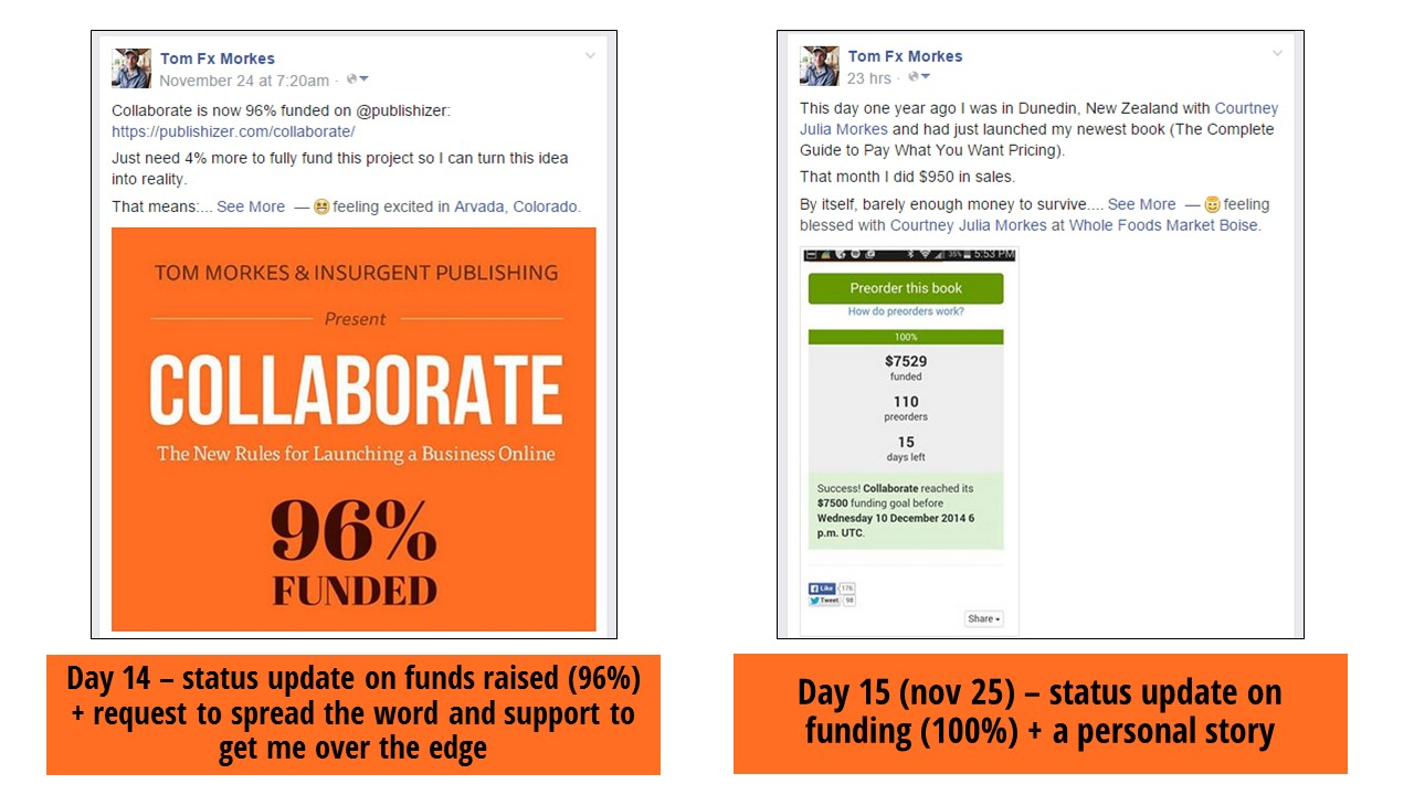 facebook promotion for crowdfunding campaign
