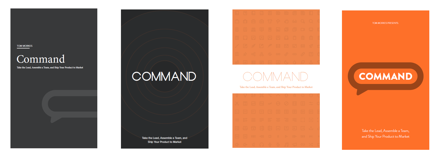 collaborate early book cover iterations