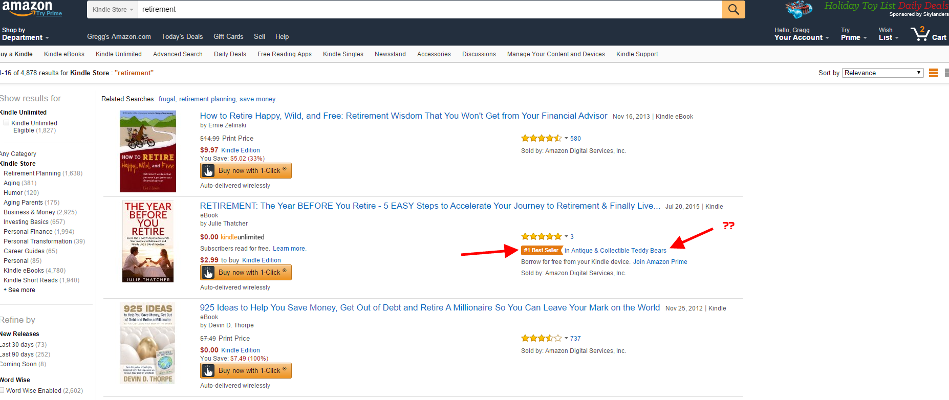 01 - Amazon Kindle SEO - scam example