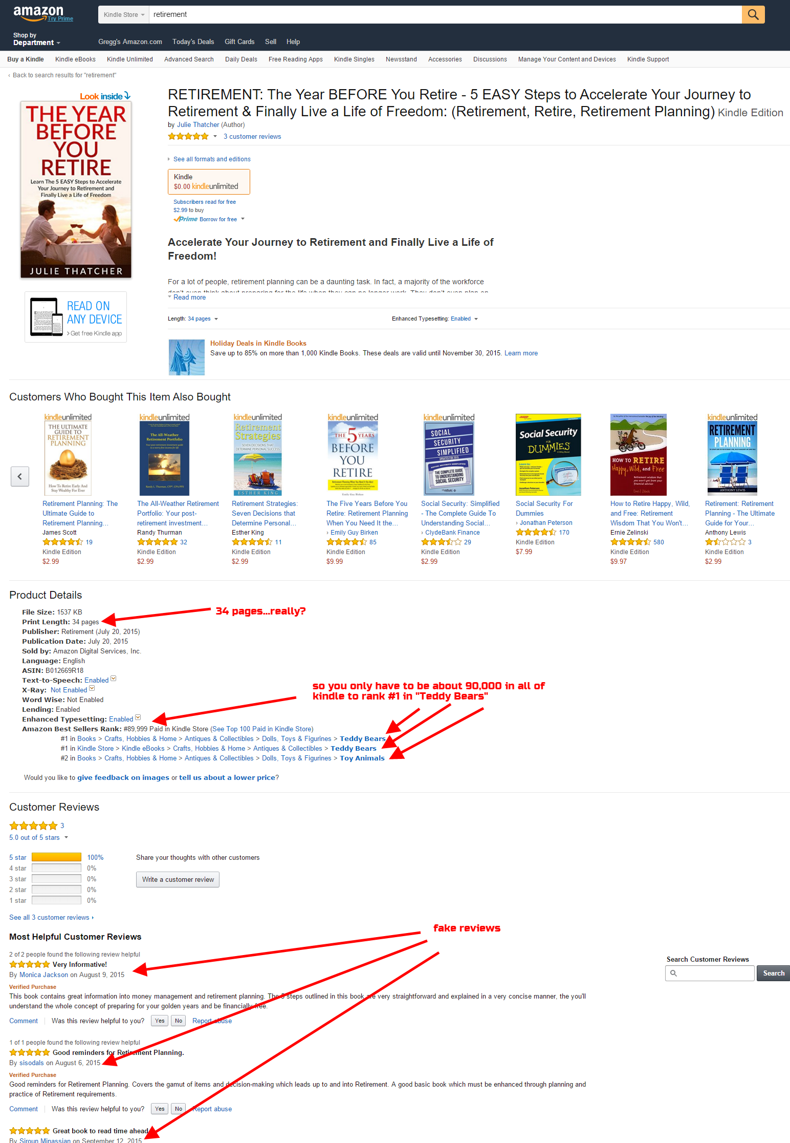 02 - Amazon Kindle SEO - scam example