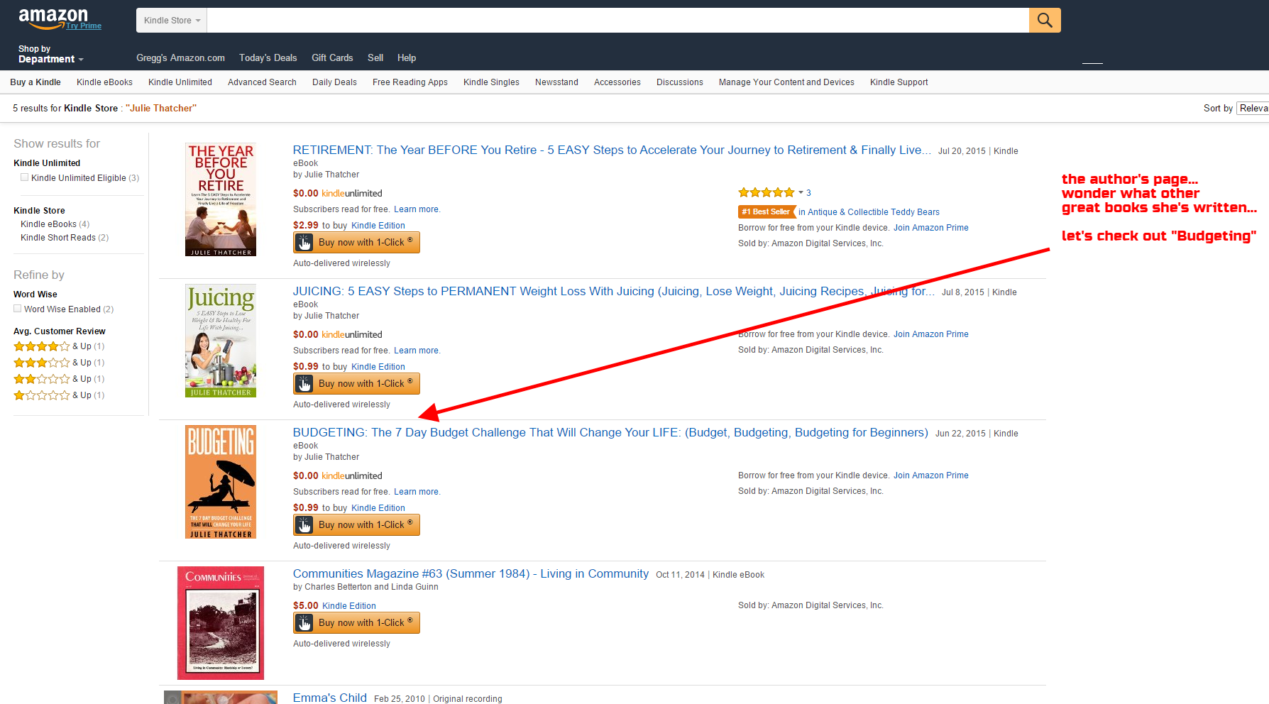 03 - Amazon Kindle SEO - scam example - author books