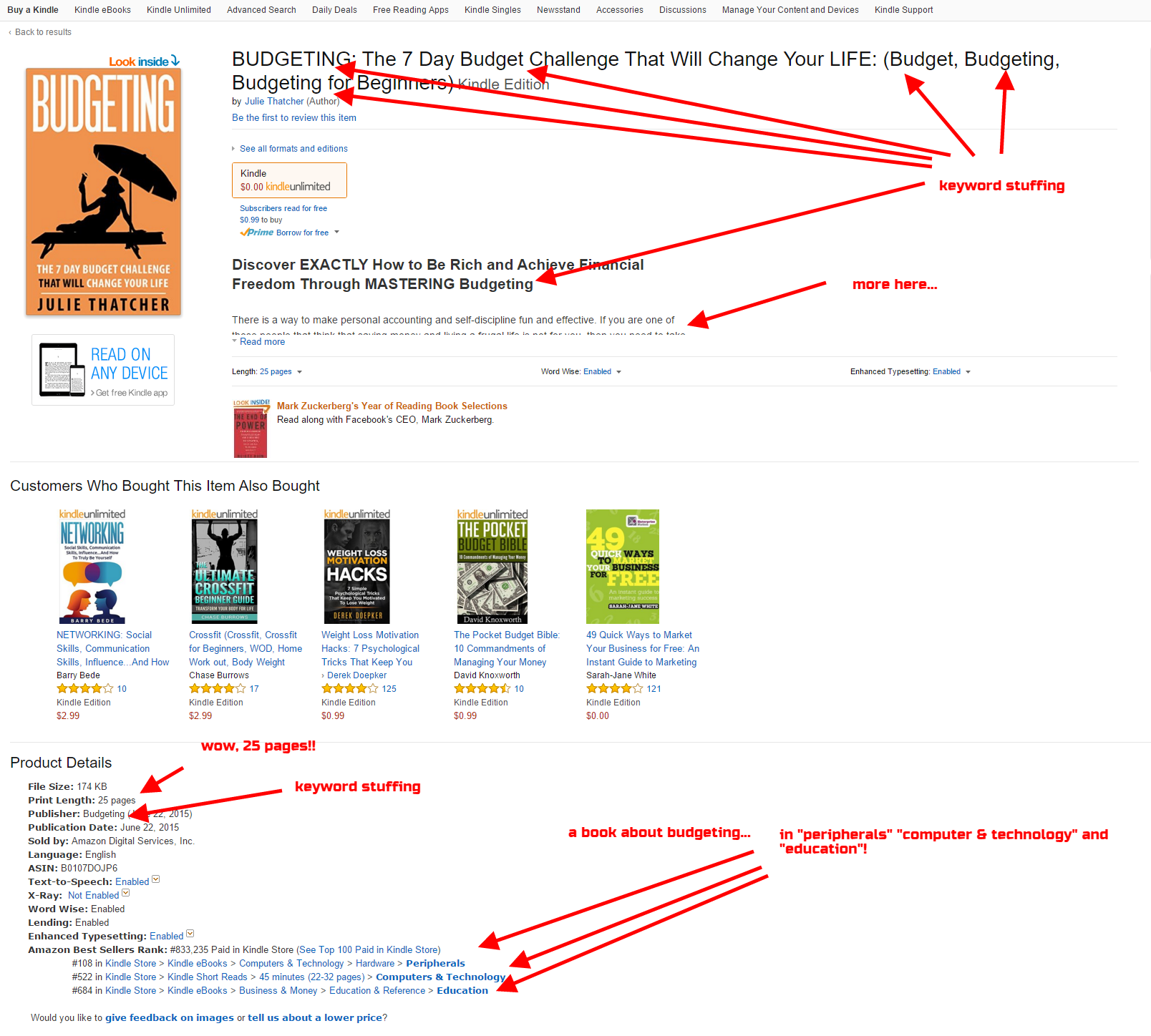 03.1 - Amazon Kindle SEO - scam example - author book example